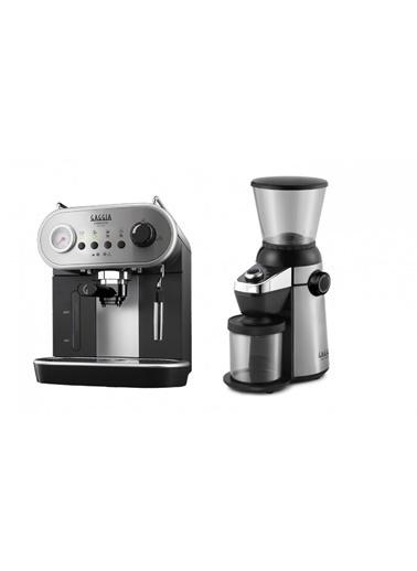 Gaggia  Gaggia Carezza Deluxe ve MD 15 Kahve Öğütücü Renkli
